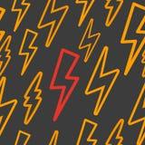 Безшовная текстура с молнией yellow Стоковые Изображения RF