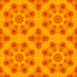 Безшовная текстура с оранжевым цветочным узором Стоковые Изображения RF
