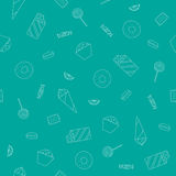 Безшовная текстура с помадками Стоковое Фото