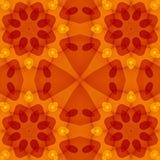 Безшовная текстура с теплой красной картиной отрезка оранжевого желтого цвета флористической Стоковое фото RF