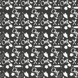 Безшовная текстура с утварями эскиза doodle кухни нарисованными вручную с мел на классн классном Смогите быть использовано для об бесплатная иллюстрация