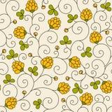 Безшовная текстура с цветками Стоковое Изображение RF
