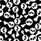 Безшовная текстура с черепами Стоковое Изображение RF