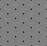 Безшовная текстура шестиугольников. Геометрическая картина. Стоковая Фотография RF