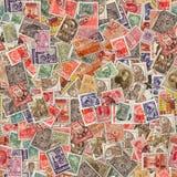 Безшовная текстура штемпелей почтового сбора. Стоковые Фото