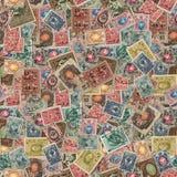 Безшовная текстура штемпелей почтового сбора. Стоковое Изображение
