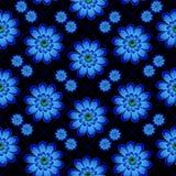 Безшовная темная картина с цветками Стоковые Изображения RF