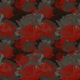Безшовная темнота - красная картина роз Стоковое Изображение RF