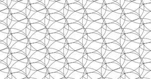 Безшовная тонкая линия курчавая картина, текстура печати экрана линейная, monochrome текстура изогнутых линий иллюстрация вектора