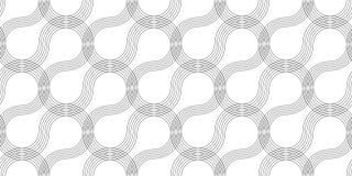 Безшовная тонкая линия курчавая картина, текстура печати экрана линейная, monochrome текстура изогнутых линий иллюстрация штока