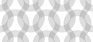 Безшовная тонкая линия курчавая картина, текстура печати экрана, monochrome текстура изогнутых линий иллюстрация вектора