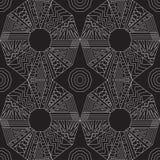 Безшовная традиционная геометрическая картина черная белизна бесплатная иллюстрация