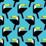 Безшовная тропическая картина с птицами вектор Иллюстрация вектора
