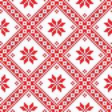 Безшовная украинская славянская фольклорная картина вышивки Стоковые Фотографии RF