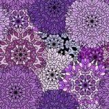 Безшовная фиолетовая экзотическая средневековая картина Стоковые Изображения RF