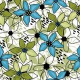 Безшовная флористическая абстрактная белизна картины иллюстрация вектора