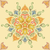 Безшовная флористическая картина в пастельных красках. Мандала Стоковые Изображения