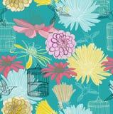 Безшовная флористическая картина Стоковая Фотография RF