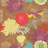 Безшовная флористическая картина Стоковые Фотографии RF