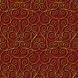 Безшовная флористическая темнота - красная предпосылка картины штофа Стоковая Фотография RF