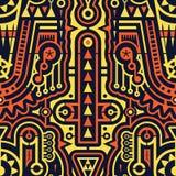 Безшовная футуристическая картина современного искусства в стиле Techno Стоковые Фото