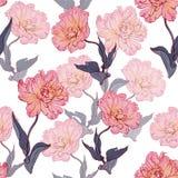 Безшовная флористическая винтажная картина с тюльпанами Стоковое Фото