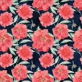 Безшовная флористическая иллюстрация акварели Стоковые Фото