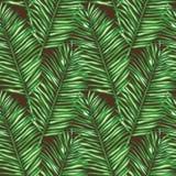 Безшовная флористическая картина вектора воодушевленная листьями Стоковое Изображение RF