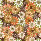 Безшовная флористическая картина для конструкции Стоковое Фото