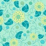 Безшовная флористическая картина Стоковые Фото