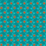 Безшовная флористическая картина creeper Стоковые Изображения RF