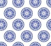 Безшовная флористическая орнаментальная предпосылка вектора Стоковая Фотография RF