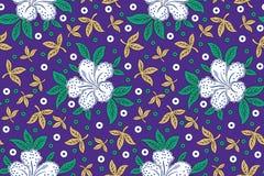 Безшовная флористическая предпосылка для тканей и тканей Стоковая Фотография