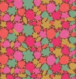 Безшовная флористическая предпосылка с ягодами, цветки,  Стоковое фото RF