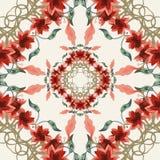 Безшовная флористическая предпосылка Стоковая Фотография RF