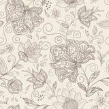 Безшовная флористическая предпосылка Стоковые Фото