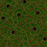 Безшовная флористическая темная ая-зелен предпосылка картины штофа Стоковые Фото