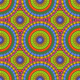 Безшовная цветастая абстрактная картина Стоковое Изображение RF