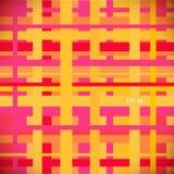 Безшовная цветастая геометрическая линейная картина. Бесконечная предпосылка Стоковые Изображения
