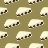 Безшовная часть картины сладостного торта Стоковое Фото