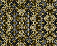 Безшовная черная геометрическая картина Стоковые Изображения RF