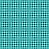 Безшовная черная картина белых коробок на предпосылке зеленого цвета aqua Иллюстрация вектора