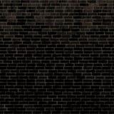 Безшовная черная кирпичная стена Стоковое фото RF
