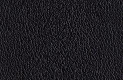 Безшовная черная кожаная текстура Стоковая Фотография