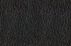 Безшовная черная кожаная текстура Стоковое Фото