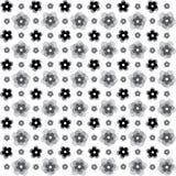 Безшовная черная красочная выбитая картина предпосылки цветка 3d Иллюстрация штока