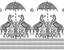 Безшовная черно-белая граница иллюстрация штока