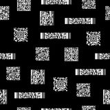 Безшовная черно-белая картина с штрихкодами стоковое фото rf