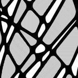 Безшовная черно-белая геометрическая абстрактная картина с насиженный Стоковые Фотографии RF