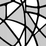 Безшовная черно-белая геометрическая картина с диаграммами Стоковые Изображения RF